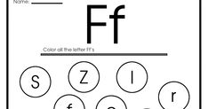 """This blog post combines some printable worksheets, coloring pages, flashcards and other teaching materials featuring English ABC letter """"F... Letter Tracing Worksheets, Tracing Letters, Printable Worksheets, English Abc, Creative Activities For Kids, Letter F, Reading Fluency, Printable Letters, Teaching Materials"""