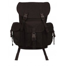 Rothco Black Outfitter Canvas Backpack