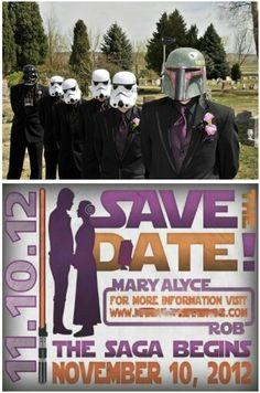 Star Wars themed wedding... that's pure genius...
