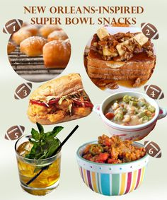 New Orleans-inspired Super Bowl snacks