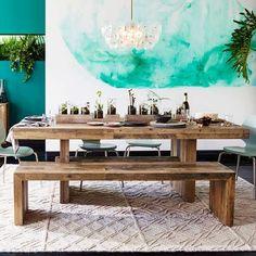 Puinen Ruokapöytä