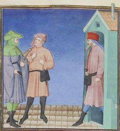 Publius Terencius Afer, Comoediae [comédies de Térence] ca. 1411;  Bibliothèque de l'Arsenal, Ms-664 réserve, 177v