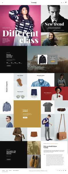 Vesmag Is A Uniquely Designed Website Template In Photoshop With Simple Amp