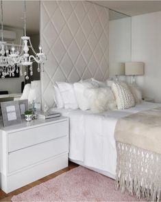 Painting Furniture Before And After Grey Master Bedrooms New Ideas Diy Furniture Dresser, Mirrored Bedroom Furniture, Grey Furniture, Dresser Desk, Painting Furniture, Furniture Design, Guest Bedroom Decor, Gray Bedroom, Home Room Design