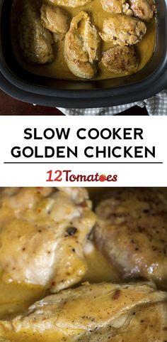 Slow Cooker Golden Chicken