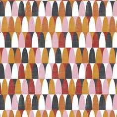 Jazz Pink/Orange – The Swedish Fabric Company Textile Patterns, Color Patterns, Print Patterns, Design Patterns, Textiles, Geometric Fabric, Geometric Art, Identity, Surface Pattern Design