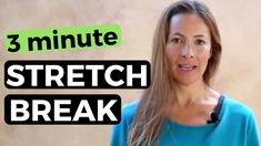 Take a stretch break. If you've been sitting at a desk or driving all day, this is perfect for you! Take three minutes now to stretch.