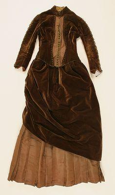 Ensemble  Date: 1880–84 Culture: American or European Medium: (a,b) silk (c) silk, feathers  Metropolitan Museum of Art   Accession Number: C.I.38.98.8a–c