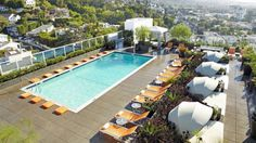 The highest rooftop swimming pool in LA @ the Andaz WeHo Rooftop