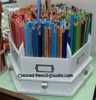 Scrapbook Tool Holder: Lazy Susan Style... made by The Paper Studio...? Want this minus the pencils!!