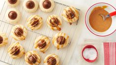 Chocolate-Salted Caramel Blossom Cookies
