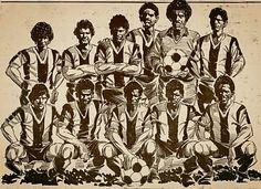 Alianza Lima 1987. De la Victoria a la gloria. dibujado por Dionisio Torres.
