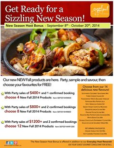 Sept/October Host Specials Don't miss out.