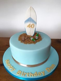 Surfers cake...life is good at 40
