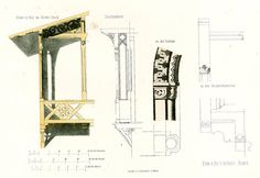 1854 Landing stage plans Architectural antique by sofrenchvintage