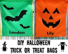 DIY Halloween Trick-or-Treat bags using vinyl (HTV) and Silhouette Machine