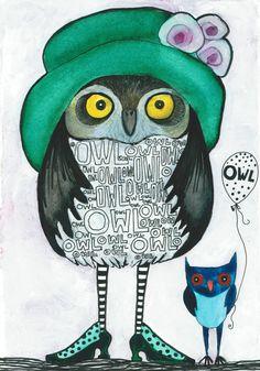 Owls by Julia Hartling Pinned by www.myowlbarn.com