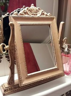 Annie Sloan Scandinavian pink, clear and dark wax. #anniesloanmadness