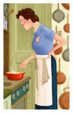 Happy 100th Birthday, Julia Child! Illustration by Peter Emmerich: Joyeux Anniversaire Julia Child!