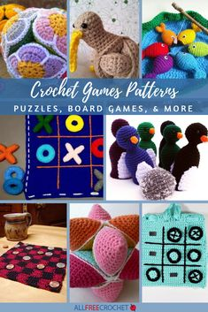 This collection of Crochet Games Patterns includes lots of unique designs for all types of games that are fun for everyone. Crochet Game, Crochet Baby Toys, All Free Crochet, Unique Crochet, Crochet Toys Patterns, Crochet Gifts, Stuffed Toys Patterns, Crochet For Kids, Crocheted Toys