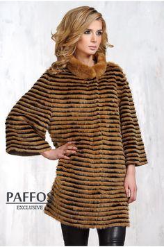 Стильное пальто из норки