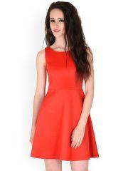 SASSAFRAS Red Skater Dress
