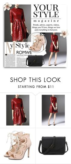 """Romwe 13/5"" by amelaa-16 ❤ liked on Polyvore featuring Pussycat and romwe"
