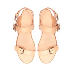 Image 2 of FLAT SANDAL WITH BUCKLE from Zara