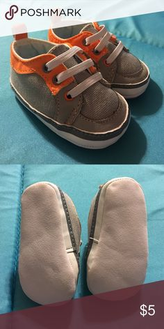Newborn shoes Orange and gray newborn shoes. Perfect condition Shoes