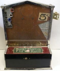 "Vintage Coin Op ""Target Practice\"" Nickel Drop Skill Trade Simulator Machine!, $720"
