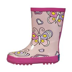RanyZany Bella Butterfly Boot Size 8- Rain Boots For Girls- Kids Rain Boots - Easy To Clean - Rubber Lining. Water proof upper. Pull handles for easy on and off. skid resistant outsole. Easy To Clean. Satisfation Guaranteed.