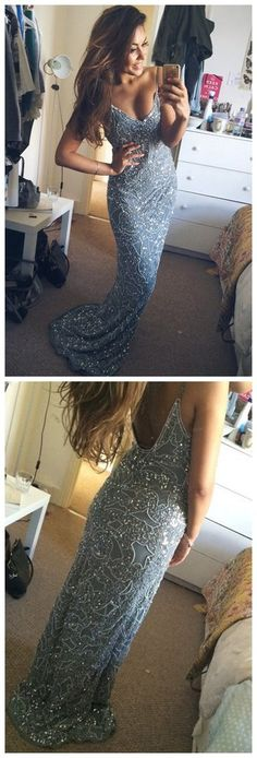 Spaghetti Straps Sexy Mermaid Sexy Charming Cocktail Party Prom Dress, – AlineBridal