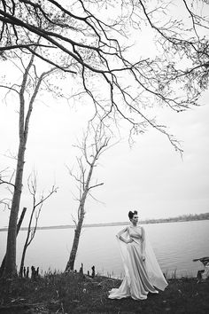Maleficent wedding dress | Bit of Ivory Photography & Palette of Petals | see more on: http://burnettsboards.com/2014/05/disneys-maleficent-inspired-wedding/