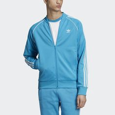 Shop adidas men's jackets and browse all jacket types including track, training, windbreaker styles. Blue Adidas, Adidas Men, Adidas Tracksuit, Types Of Jackets, Latest Colour, Jd Sports, Stripes Fashion, Athletic Wear, Adidas Originals
