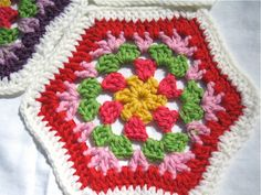 Pretty Hexagon #crochet #hexagon