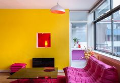 倫敦 13 坪單身彩紅公寓
