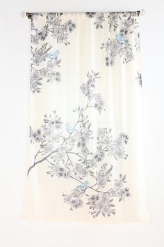 Plum & Bow Bird Blossom Curtain