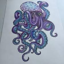 Image result for purple octopus tattoo