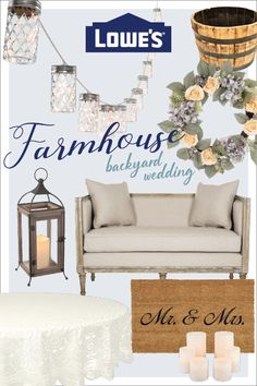 No need to keep looking for backyard wedding ideas. Shop our selection of items to throw a trendy farmhouse wedding.