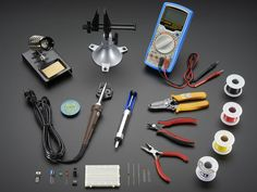 "Ladyada's Electronics Toolkit: Starting out on your electronics adventure? Want to wield the mighty soldering iron? Tired of saying ""I'd totally get into electronics if I only knew what tools to get…""?  Working with substandard equipment is a terrible way to learn electronics: a lot of frustration with too little success. The right tool set will keep you progressing without the stressing.  This toolbox contains carefully selected hand tools that will last you for many many years"