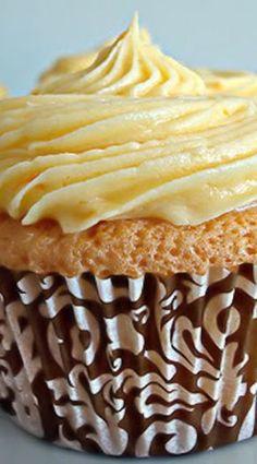 Orange Chiffon Cupcakes with Orange Cream Cheese Frosting