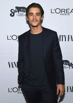 Brenton Thwaites at the Vanity Fair and L'Oreal Paris Toast to Young Hollywood in February 2017...