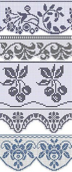 Easiest Crochet Frills Border Ever! Filet Crochet Charts, Crochet Stitches, Embroidery Stitches, Crochet Patterns, Crochet Trim, Easy Crochet, Crochet Lace, Crochet Boarders, Motifs Perler
