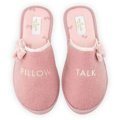 kate spade new york barrone pillow talk speech slipper (300 RON) ❤ liked on Polyvore featuring shoes, slippers and antique rose