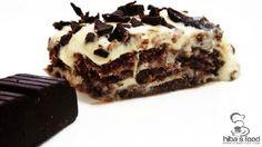 طريقة عمل حلى طبقات البكسويت والجبن - Cheese and #biscuit #dessert #recipe