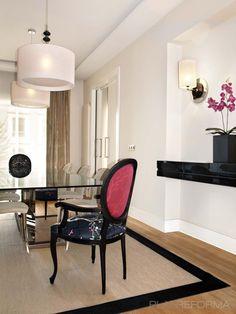 Comedor style contemporaneo color marron, blanco, negro  diseñado por GIRO ARQUITECTURA Y DISEÑO   Arquitecto