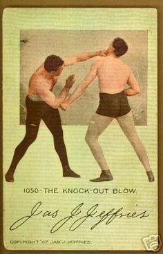 "James Jeffries - 1907 Postcard - ""The Knock-Out Blow"""