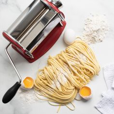 Remy Olivier Scarlet Pasta Machine, Red Red Pasta, Pasta Machine, Pasta Maker, Homemade Pasta, Bakeware, Recipe Of The Day, Scarlet, Cookware, Spaghetti