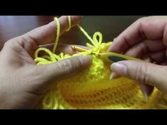 Como hacer punto bucle doble - YouTube