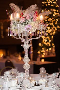 What an awesome centerpiece! Photo by Molly. #minneapolisweddingphotographer  #centerpieces #wedding